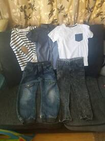Age 6-7 Boys clothes bundle jeans tops
