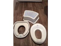 Toilet Training seats (x2) and step
