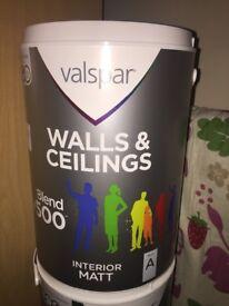 Valspar Paint - Colour: Modern Grey. 2 X 5L
