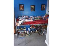 Blue mid sleeper bed