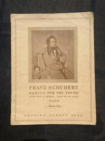 Franz Schubert Dances For The Young Edition Schott 2792 - Classical Sheet Music