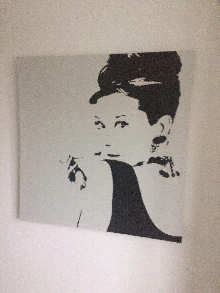 Ikea Audrey Hepburn Canvas | in Romsey, Hampshire | Gumtree