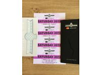 FESTIVAL OF SPEED SATURDAY 14th JULY TICKETS X4