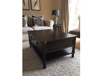 LAURA ASHLEY HENSHAW BLACK 2 DRAWER COFFEE TABLE Used/Bought in December 2017