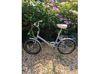 Raleigh Light Blue Unisex Folding Bike - new tyres and chain