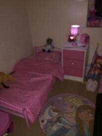 *HOUSE CLEARANCE* Pink junior size single toddler bed. Brand new unused never slept in!