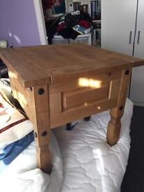 Mexican pine side table