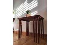 Danish Bramin Nesting tables mid century vintage