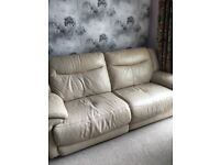 Large Leather reclining sofa's