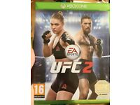 Xbox one ufc 2 perfect condition and star wars battlefront