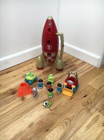 Space rocket toy