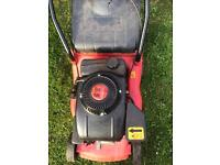Champion petrol lawn mower