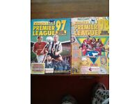 Merlins Premier league sticker books 1997 1998