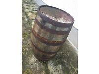 Old Antique Whiskey Barrel