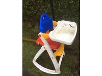 Free trampoline and high chair also wardrobe