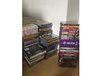 Over 200 dvds , and 25 cds