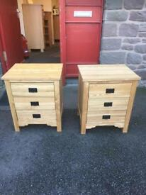 Pair of solid oak bedside chests *free furniture delivery *
