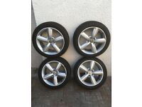 Audi/VW wheels with winter tyres