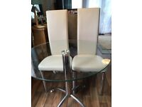 Glass dining table with 4 chairs £50