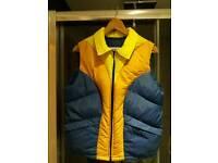 Vintage sleeveless puffer jacket