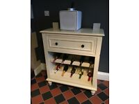 Vintage/Shabby chic style Sideboard with wine rack.