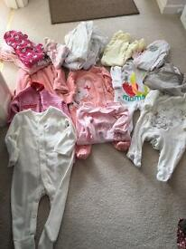 Bundle of 3-6 month baby grows girls