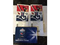NFL twickenham cardinals vs Rams x2 tickets