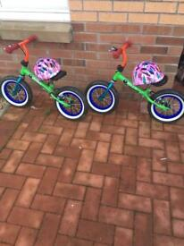 Stompee Balance Bike x2 available hardly used £35 each or £60 for both
