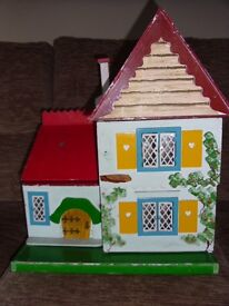 Dolls House Circa 1960's - condition fair, with furniture.