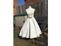 1950s lace wedding dress gown size 8 10