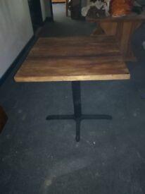 Reclaimed scaffold board restaurant tables