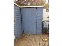 Slatted Wooden Garden Shed in Good Condition