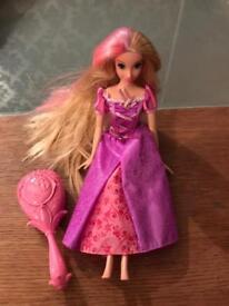Rapunzel magic hair doll