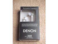 ( New ) Denon AHC260 In-Ear Headphones - Black