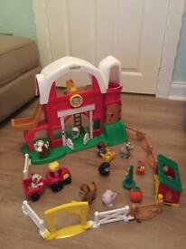 Fisher Price Little People Fun Sounds Farm plus additional animals & pieces.