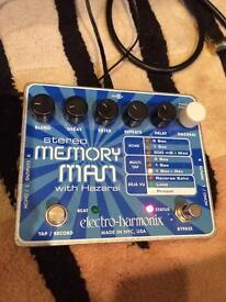 Electro Harmonix EHX stereo memory man delay pedal