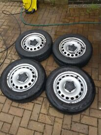Vw caddy wheels with good tyres and centrecaps