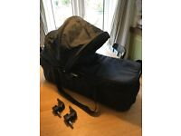 Baby Jogger black compact carrycot for City Mini pushchair incl. adapters. Great Condition.