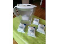 Brita jug + 4 filter cartridges