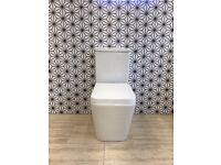 Square Modern Close Coupled Toilet WC With Soft Close Seat RRP £295
