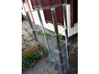 Glass shelves for upcycling and also 2 tv table black glass sheets