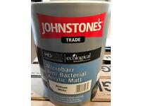 6 x Johnstone's White anti bacterial paint