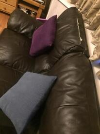 Two seater leather sofa - free to collect