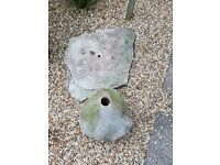 Water feature stone and base