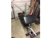 Pro power bench, weights and bars