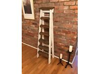 Traditional antique 6 tread 5ft step ladder