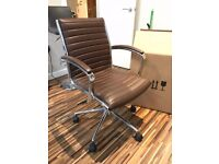 M&S Leather Office Chair LIKE NEW!!