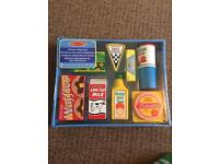 New boxed wooden fridge food Melissa and Doug's