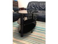 Tv stand, oval shape glass tv stand in perfect conditions