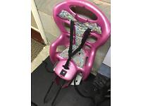 Bike seat for baby or toddler
